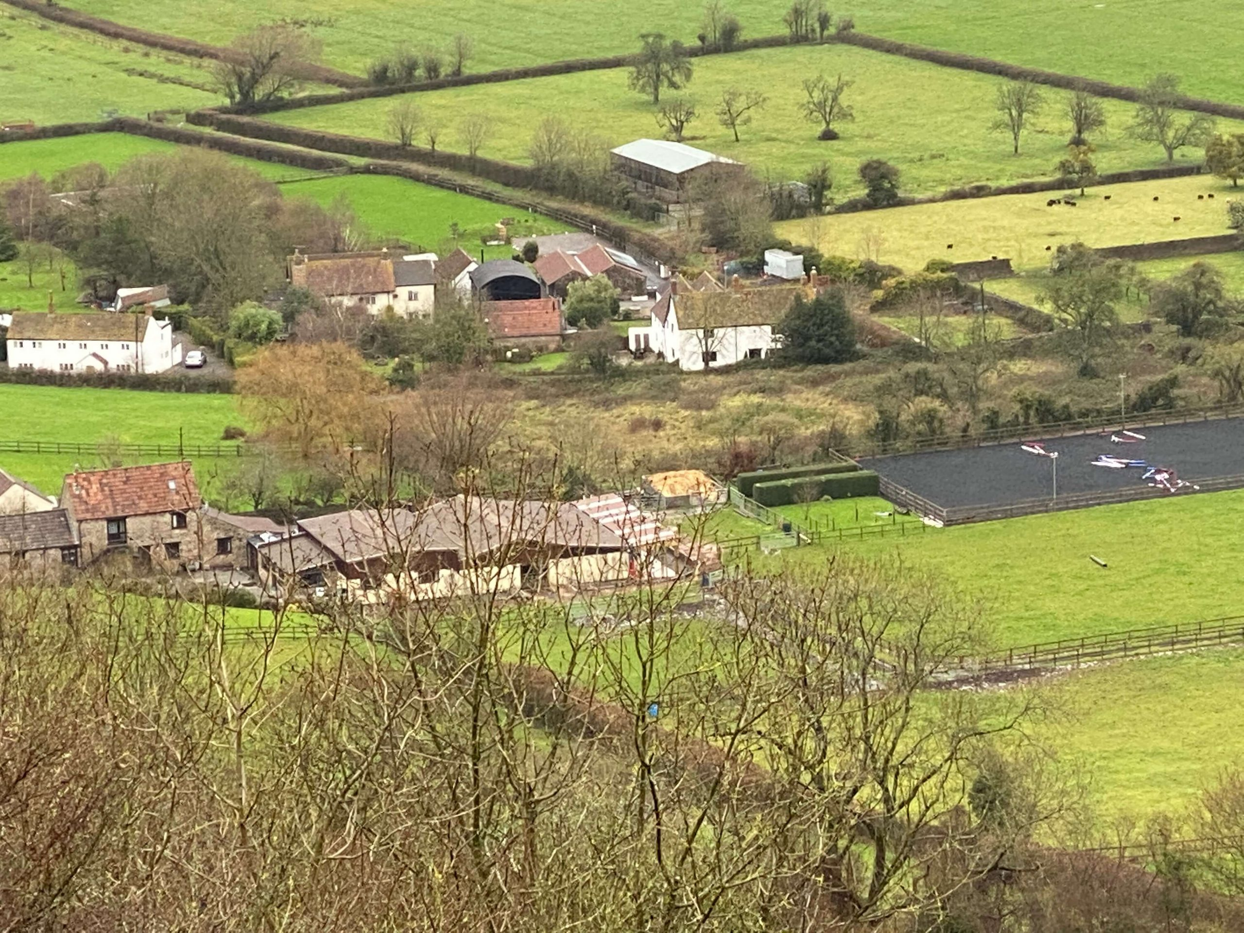 Home Farm Cottages from the Mendips Somerset