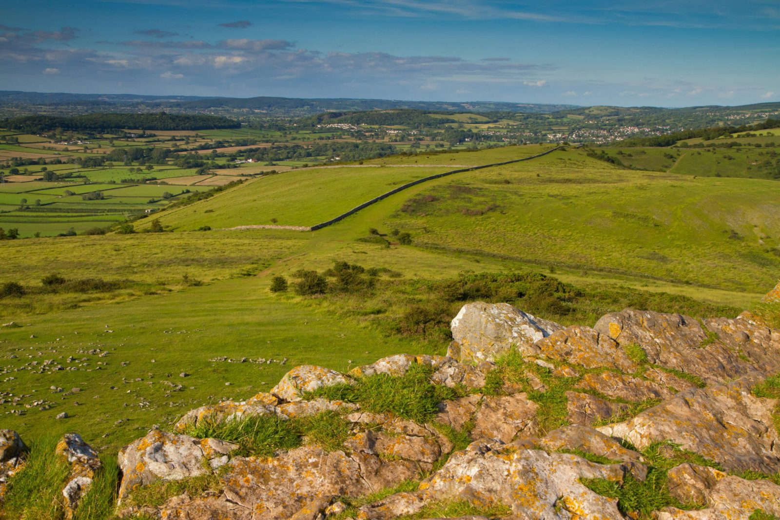 Crook Peak Mendip Hills near Home Farm Holiday Cottages Somerset