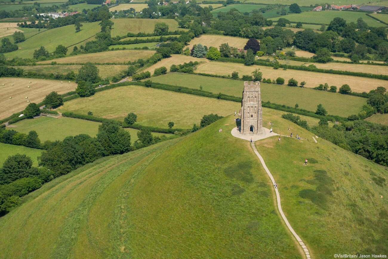Glastonbury Tor a short walk from Glastonbury Town Centre Holiday Cottages