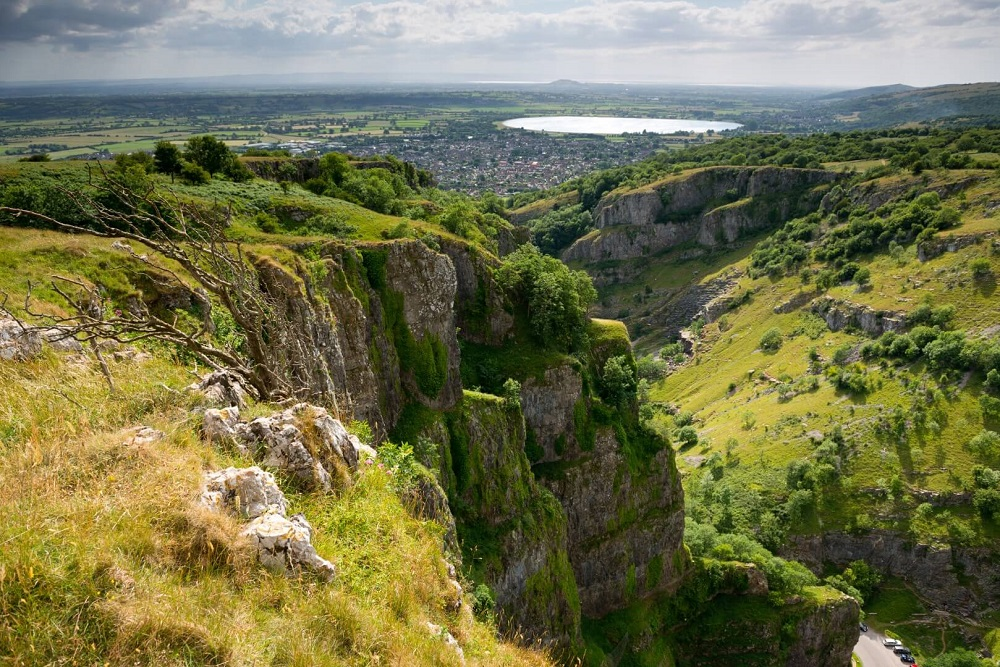Cheddar Gorge Near Home Farm Holiday Cottages Somerset Dogs welcome Enclosed gardens and enclosed fields
