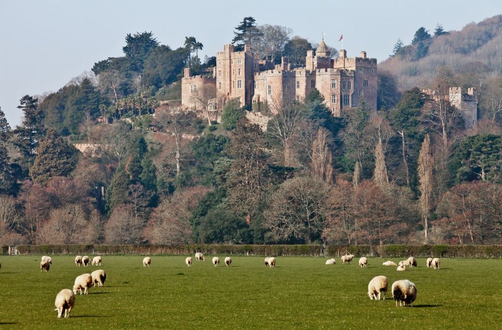 Dunster Castle get there via Steam Train Somerset Holiday Cottages